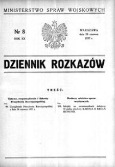 Dziennik Rozkazów, 1937, R. 20, nr 8