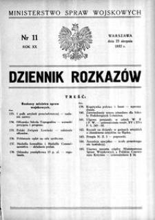 Dziennik Rozkazów, 1937, R. 20, nr 11
