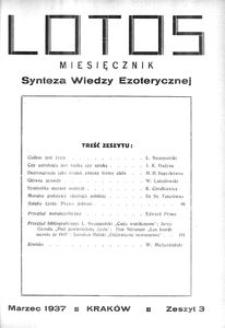Lotos : miesięcznik poświęcony rozwojowi i kulturze życia wewnętrznego, 1937, R. 4, z. 3
