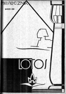 Lotos : miesięcznik poświęcony rozwojowi i kulturze życia wewnętrznego, 1938, R. 5, z. 3