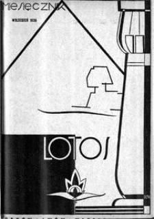Lotos : miesięcznik poświęcony rozwojowi i kulturze życia wewnętrznego, 1938, R. 5, z. 9