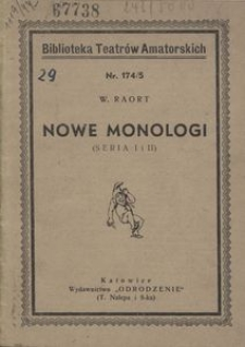 Nowe monologi (Seria 1 i 2)