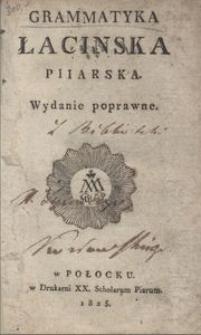 Grammatyka łacinska piiarska. - Wyd. poprawne