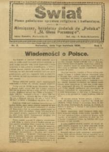 Świat, 1926, R. 1, nr 3