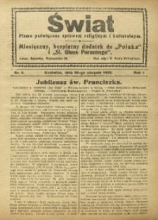 Świat, 1926, R. 1, nr 8