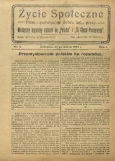 Życie Społeczne, 1926, R. 1, nr 3