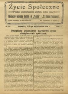 Życie Społeczne, 1926, R. 1, nr 10