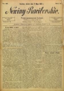 Nowiny Raciborskie, 1890, R. 2, nr 40