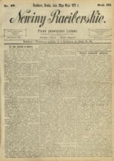 Nowiny Raciborskie, 1891, R. 3, nr 40