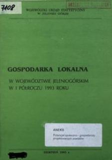 Gospodarka lokalna w województwie jeleniogórskim w I półroczu 1993 roku