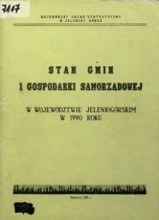 Stan gmin i gospodarki samorządowej w województwie jeleniogórskim w 1990 roku