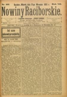 Nowiny Raciborskie, 1895, R. 7, nr 112