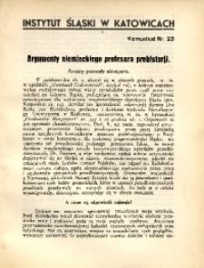 Argumenty niemieckiego profesora prehistorji
