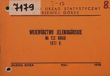 Województwo jeleniogórskie na tle kraju 1977 r.