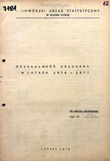 Działalność usługowa w latach 1976-1977