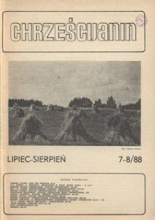 Chrześcijanin, 1988, nr 7-8