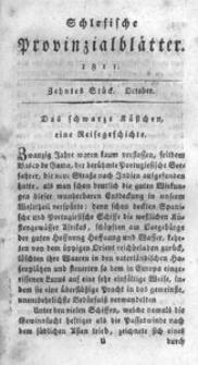 Schlesische Provinzialblätter, 1811, 54. Bd., 10. St.: October