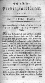 Schlesische Provinzialblätter, 1811, 54. Bd., 12. St.: December