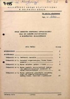 Wykaz jednostek gospodarki uspołecznionej oraz ich numerów statystycznych w województwie jeleniogórskim