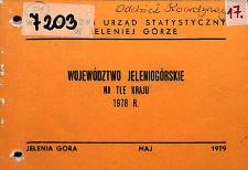 Województwo jeleniogórskie na tle kraju 1978 r.