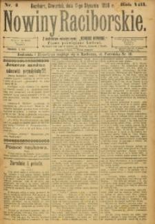 Nowiny Raciborskie, 1896, R. 8, nr 4