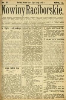 Nowiny Raciborskie, 1898, R. 10, nr 23
