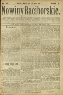 Nowiny Raciborskie, 1898, R. 10, nr 26