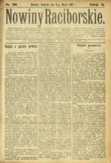 Nowiny Raciborskie, 1898, R. 10, nr 30