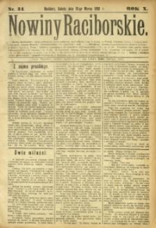 Nowiny Raciborskie, 1898, R. 10, nr 34