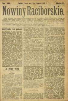 Nowiny Raciborskie, 1898, R. 10, nr 135