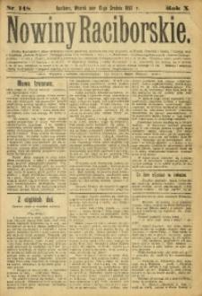 Nowiny Raciborskie, 1898, R. 10, nr 148