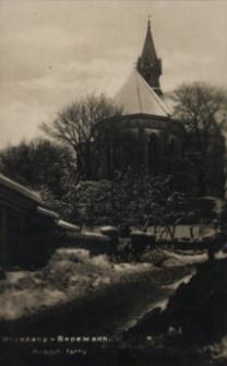 Brzeżany. Kościół farny, 1928 r.