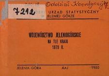 Województwo jeleniogórskie na tle kraju 1979 r.