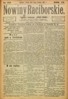 Nowiny Raciborskie, 1897, R. 9, nr 153