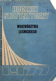 Rocznik Statystyczny Województwa Legnickiego, 1977