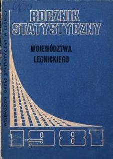 Rocznik Statystyczny Województwa Legnickiego, 1981