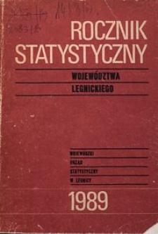 Rocznik Statystyczny Województwa Legnickiego, 1989