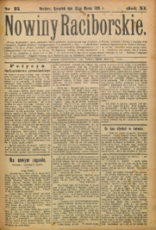 Nowiny Raciborskie, 1899, R. 11, nr 35