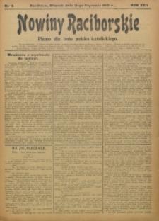 Nowiny Raciborskie, 1910, R. 22, nr 5