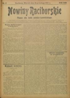 Nowiny Raciborskie, 1910, R. 22, nr 17