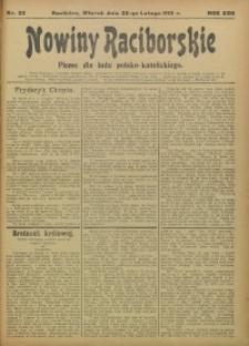 Nowiny Raciborskie, 1910, R. 22, nr 23