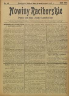 Nowiny Raciborskie, 1910, R. 22, nr 42