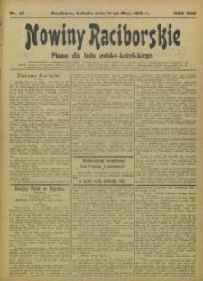 Nowiny Raciborskie, 1910, R. 22, nr 57