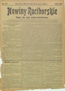 Nowiny Raciborskie, 1910, R. 22, nr 84