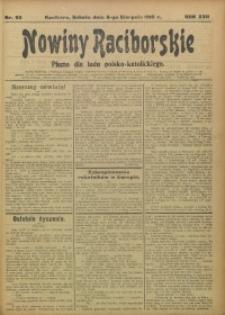 Nowiny Raciborskie, 1910, R. 22, nr 92