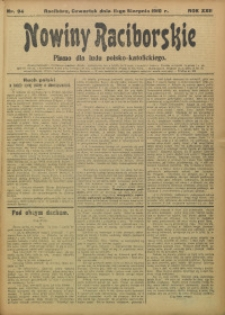 Nowiny Raciborskie, 1910, R. 22, nr 94