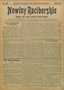 Nowiny Raciborskie, 1910, R. 22, nr 100