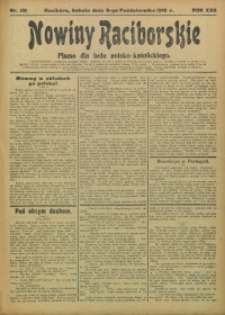 Nowiny Raciborskie, 1910, R. 22, nr 119