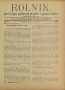 Rolnik, 1910, R. 17, nr 7
