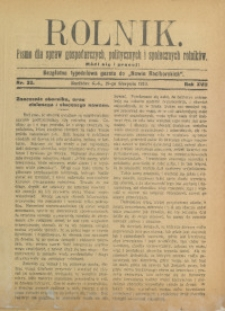 Rolnik, 1910, R. 17, nr 33